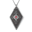 Black Iron Diamond Necklace by Loralyn Designs