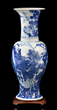 Grand Chinese Blue and White Yen-Yen Vase