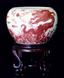 Chinese Copper-Red Dragon Fish bowl