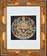 Chinese Kesi Twelve-Symbol Moon Badge
