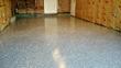 Garage Floor Finished with Rust Bullet Concrete Floor Coating