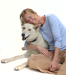 Author Dagny McKinley and her dog, Alma Rose
