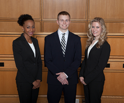 The Stetson team of Darnesha Carter, Evan Dix and Jessica Ford.