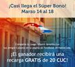 Super Bono: HablaCuba.com Offers 30 CUC Bonus for Any Cubacel recharge + 20 CUC as a Prize