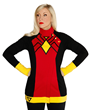 You can emulate the powerful heroine, Spider-Woman, in your daily fashion with this spectacular new raglan sleeve-style jacket available at WonderCon!