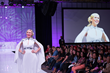 Her Universe Founder Ashley Eckstein on the runway from last year's Her Universe Fashion Show. Fans will get the scoop on this year's show at the WonderCon Her Universe Fashion Show panel.