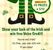 St. Patrick's Day Contest: 10 Lucky Customers Get $10 Calling Credit on KeepCalling.com Facebook Page