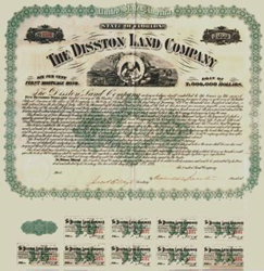 Scripophily.com Is Offering an Original Disston Land Company Bond...