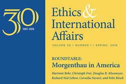 """Ethics & International Affairs"" Spring Issue 2016 (Issue 30.1)"
