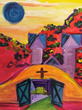 Santa Fe Art Classes Celebrates Easter; Beginner Students Paint Santuario De Chimayo in 2 Hour Class