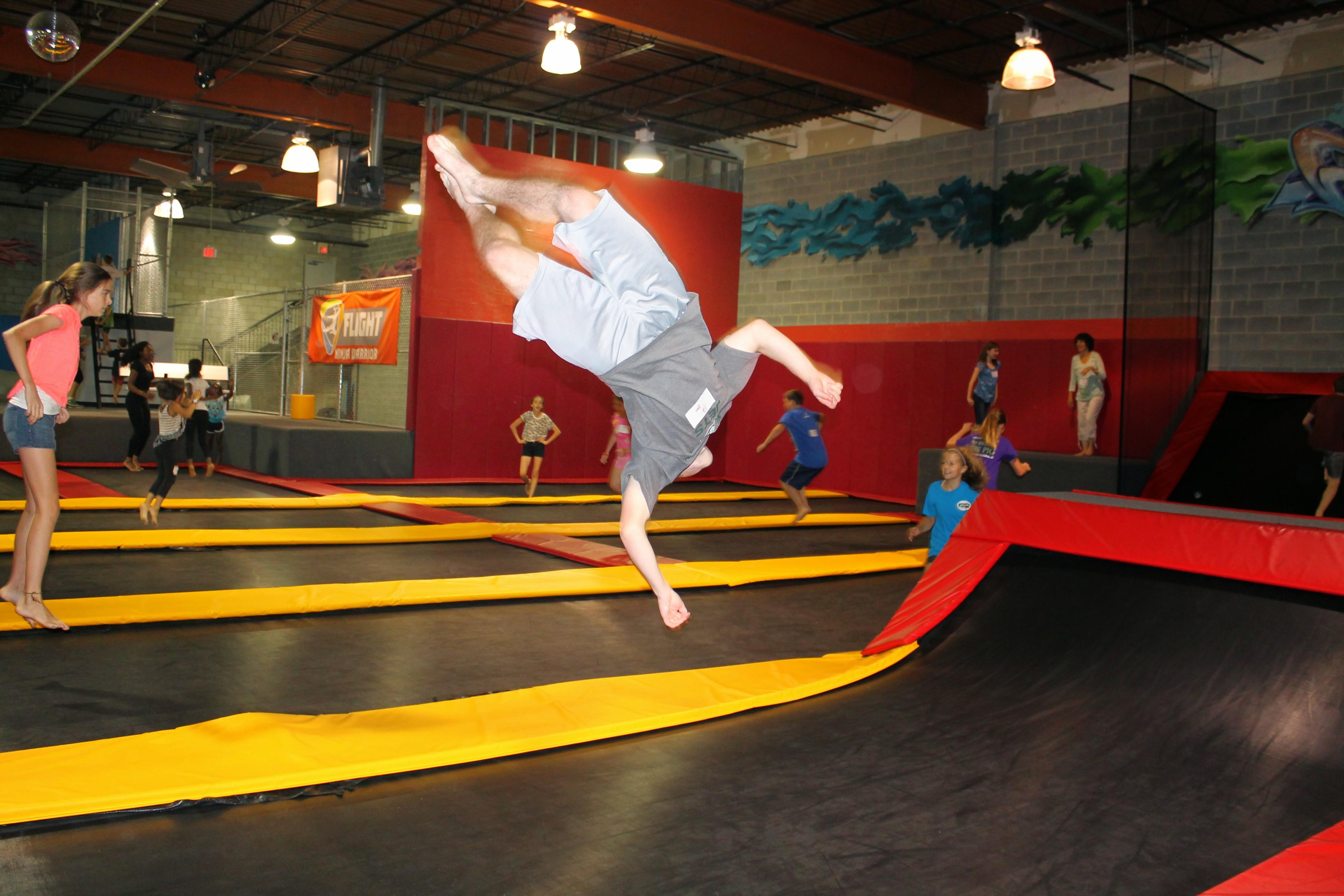 Flight Fit n Fun opens new trampoline park in Sterling VA Summer 2016
