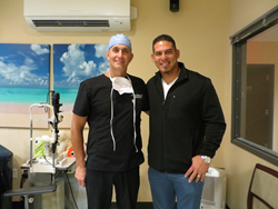 Washington Nationals' Wilson Ramos with DC LASIK Surgeon Andrew E. Holzman