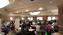 Employers and mature job seekers networking at last year's Job Fair.