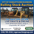 Charlotte-Mecklenburg Rolling Stock Auction