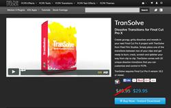 Final Cut Pro X Plugins - TranSolve - Pixel FIlm Studios