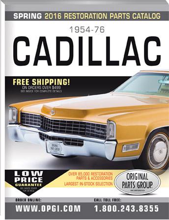 2016 Edition 1954 76 Cadillac Restoration Parts Catalog