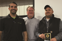 Dale Blessing of Harrington won the statewide full season soybean yield contest and a $1,000 prize with 82.08 bushels per acre of irrigated beans.