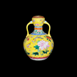 Qing Dynasty Famille Rose vase with sgraffito.