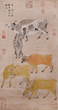 Five Cattle by Yan Ciping of the Southern Song Dynasty.