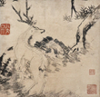 Rebellion paintings created by Bada Shanren, a Ming citizen turned monk.