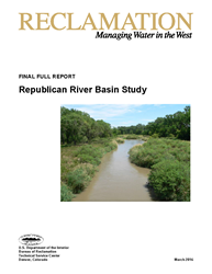 Republican River Basin Study Report Cover