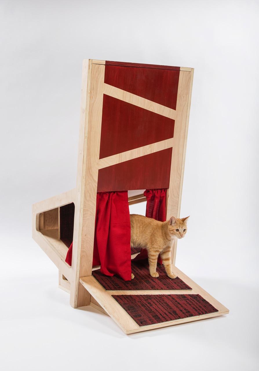 Необычные домики из для кошек своими руками