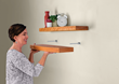 "Craft a floating shelf and get the clever ""hidden"" hardware to mount it at home."