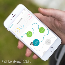 Zinkerz TOEFL Prep app