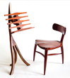 Exquisitely handcrafted furniture, such as this music stand and chair by Henneford Fine Furniture, winner of Best Craftsmanship award at the 2015 WDC, is a favorite with visitors to the Jackson, Wyo.,
