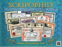 Scripophily.com celebrates 20 years on the Internet with offering a...