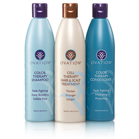 Experience enhanced results by prepping your hair and scalp with an Ovation Shampoo and finishing with an Ovation Conditioner.