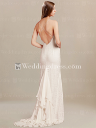 Lace open back wedding dress LC109
