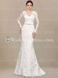 Long Sleeves Lace Wedding Dress LC51