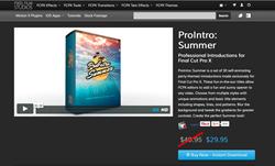 Pixel Film Plugins - ProIntro Summer - FCPX