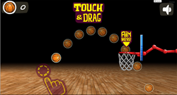 Screenshot of the new customizable basketball game from OfferCraft