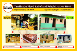 Sagitec Solutions, in collaboration with AID India, donated money to build seven houses for families who lost their homes during the 2015 Chennai floods.