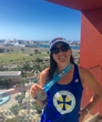 Team Cane Bay VI runner Julie Sommer during the Ironman 70.3 Puerto Rico.