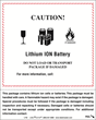 Labelmaster Offers Combo 2-in1 Lithium Battery Handling and Document Labels