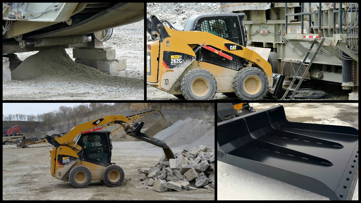 Skid Steer Bucket >> Clean-Up Under Aggregate & Mining Conveyor Systems with Skid Steer Quarry Bucket by Berlon