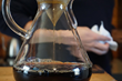 A pour-over of single-origin coffee in a Chemex.  Commonwealth Joe's new coffee shop in Pentagon City is intended to elevate the local coffee culture.