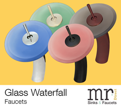 New Glass Waterfall Faucets