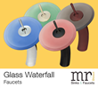 MR Direct Debuts Distinctive Waterfall Faucets to Match Under-the-Counter Glass Sinks for the Bath