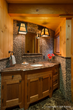 rustic guest bathroom