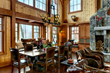 ski house dining, interior design, crt interiors