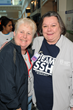 Jann Ahern (right), executive director, Home Care Division of the South Shore Hospital, greets Lynda Chuckran, of the Welch Group, to the 25th Anniversary Walk for Hospice of the South Shore.