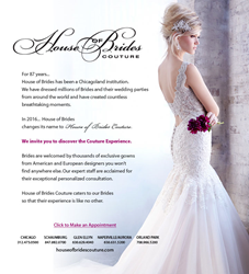 House of Brides Couture Announcement
