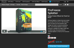 ProFreeze Splatter - Pixel Film Studios - Final Cut Effects