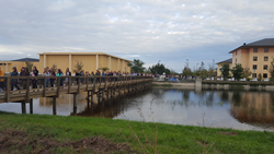 Ave Maria University New Bridge Utilized by Students and Faculty