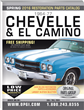 2016 Edition 1964-77 Chevelle, El Camino, Malibu Restoration Parts Catalog
