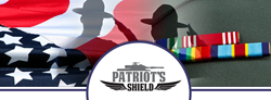 The Patriot's Shield is an apparel invention specially designed to serve as a military ribbon rack which can be attached to a uniform